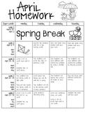 April Homework 2015