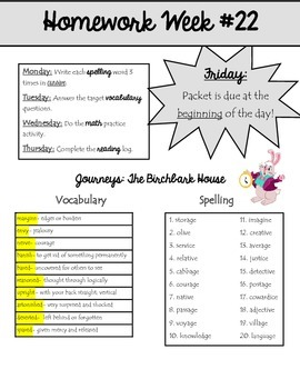 Homework Packet 22