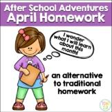 April Homework After School Adventures