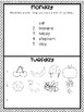 April Homework Calendar: A Month of Homework for Kindergarteners