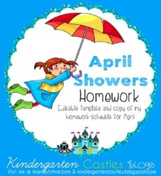April Homework Freebie Printable