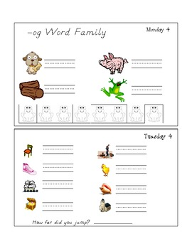 April Homework Packet - Kindergarten