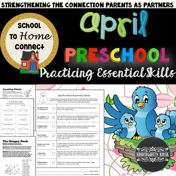 April Homework Packet: Preschool