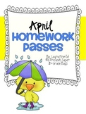 April Homework Passes