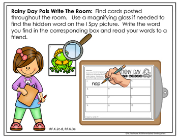 April I-Spy CVC - Blends -Digraph Write the Room Fun-Differentiated and Aligned