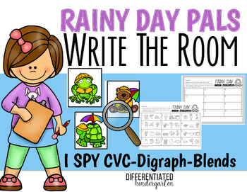 April I-Spy CVC - Blends -Digraph Write the Room Fun-Diffe