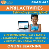 Spring Chromebook Activities - April Independent Learning
