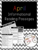 April Informational Reading Passages
