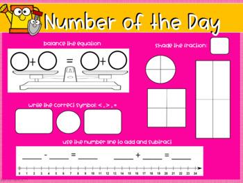 April Interactive Calendar Flipchart for 1st Grade