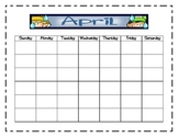 April Interactive Calendar Workbook