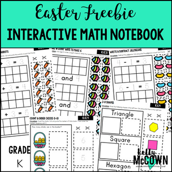 Easter Interactive Math Notebook Kindergarten FREEBIE