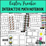 Easter Interactive Math Notebook Kindergarten FREEBIE