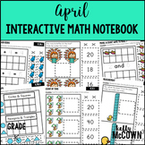 April Interactive Math Notebook Kindergarten
