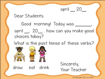April Interactive Morning Messages for 2nd Grade