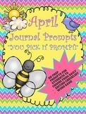 April Journal Booklet...YOU PICK IT...NO prep!!!