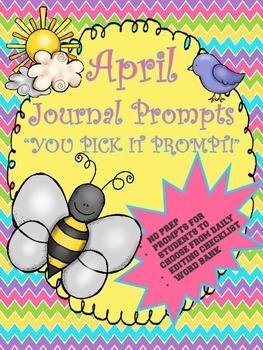 April Journal Booklet...YOU PICK IT...NO prep!!!