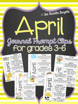 April Journal Prompt Clips
