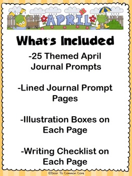 April Journal Prompts ~ 1st and 2nd Grade