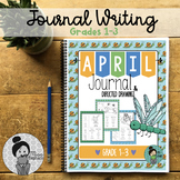 April Journal Prompts and Directed Drawings for Spring NO PREP