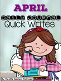 April Journal Quick Writes