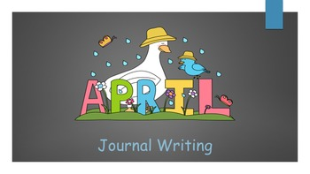 April Journal writing/ prompts/ free Writing/ independent work stations