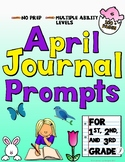 April Journal Prompts for Primary Grades
