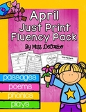 April Just Print Fluency Pack - Distance Learning