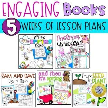 April K-1 Bundle: Interactive Read-Aloud Lesson Plans Curriculum