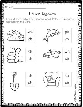 April Kindergarten HW