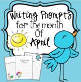 April Writing Prompts Kindergarten -2nd grade
