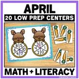 Kindergarten Math and Language Arts Centers for April