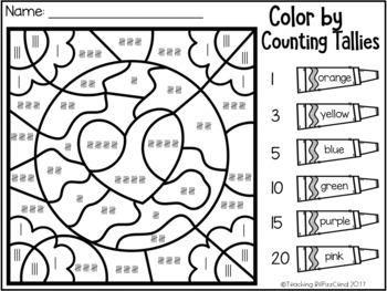April Kindergarten Color By Code