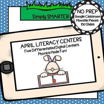 April Kindergarten Digital Literacy Centers For GOOGLE CLASSROOM