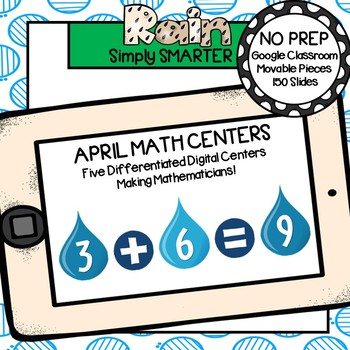 April Kindergarten Digital Math Centers For GOOGLE CLASSROOM