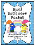April Kindergarten Homework Packet
