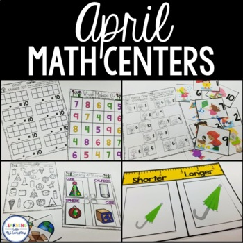 Kindergarten Math Centers April