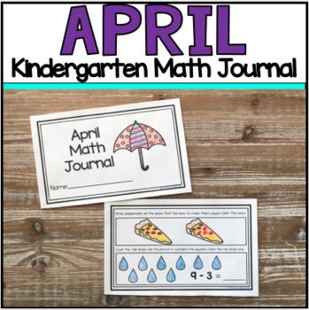 April Kindergarten Math Journal