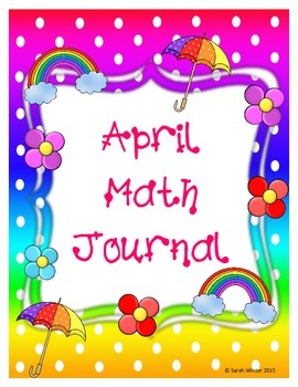 April Kindergarten Math Journals