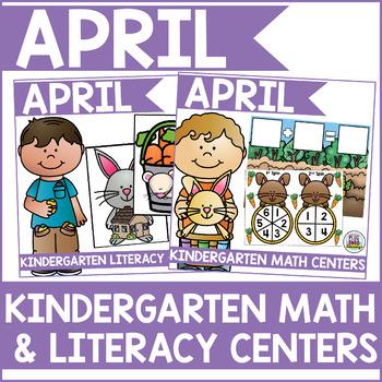 April Kindergarten Math & Literacy Centers