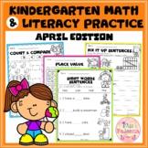 April Kindergarten Math and Literacy Practice