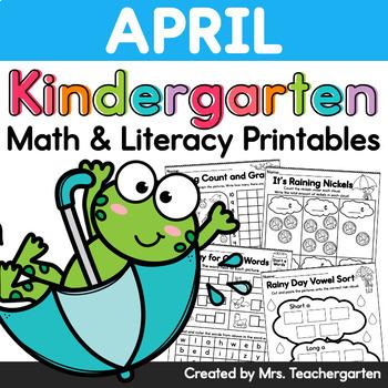 April Kindergarten Printables