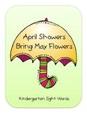 April Kindergarten Sight Words