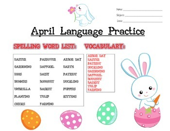 April Language Activities