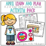 April Learn and Play Activity Pack- A 2-3 Year Old Standar