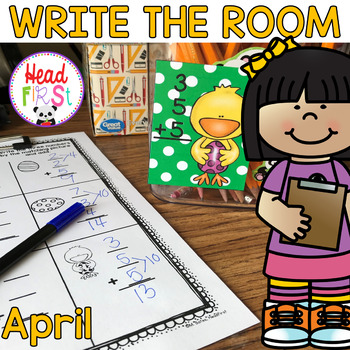 April Learning Hunt - Write the Room - I Spy ELA/Math Centers