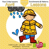 April Lessons Preschool Pre-K Kindergarten Curriculum BUNDLE S2