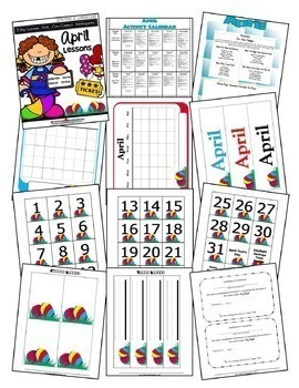 April Lesson Plans Series 3 [Four 5-day Units]  Includes Patterns and Printables