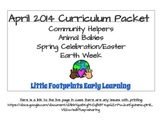 April Lesson Plans, Theme Based, 4 Weeks