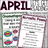 April Lets Get Reading 2nd Grade NO PREP Printable Reading Lessons