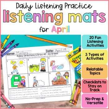 Listening & Following Directions Activities for April  | Distance Learning